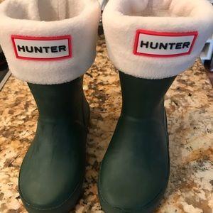 Kids Hunter Rain Boots w/socks Size 6